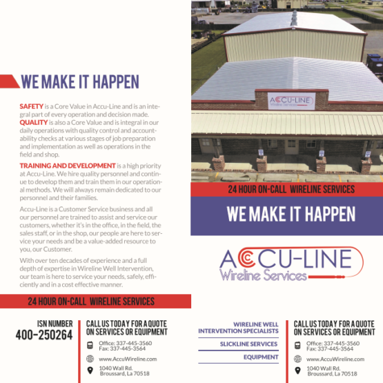 Accu-Line Brochure outside