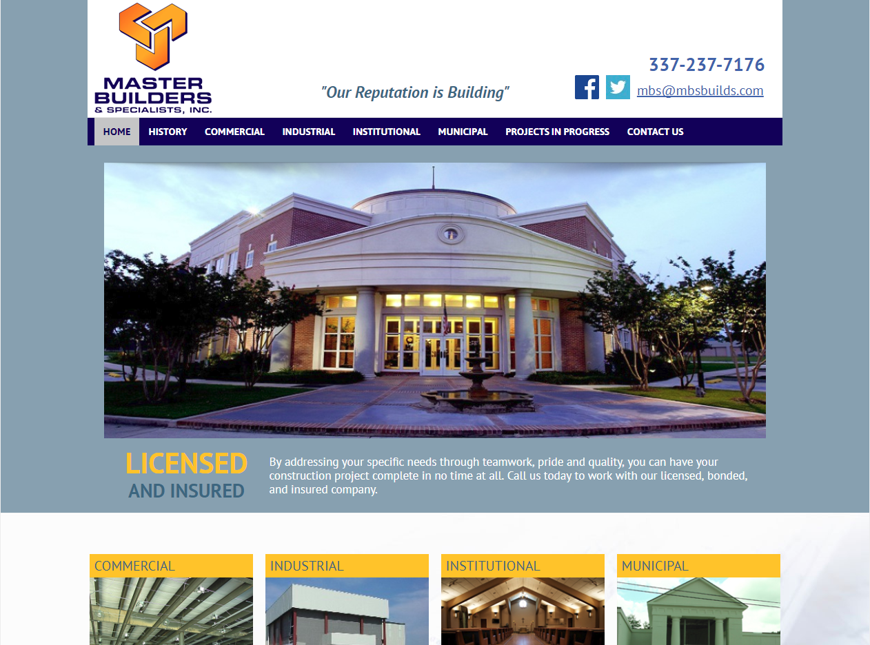 Master Builders Website